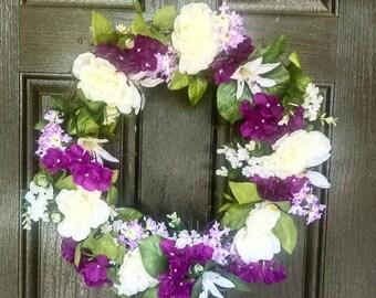Summer Wreath, Summer wreath front door, spring wreath, summer wreaths for front door, front door wreaths, floral wreath, summer floral