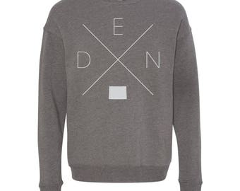 Denver Sweatshirt - DEN Home Sweater, Colorado Off Shoulder Sweatshirt
