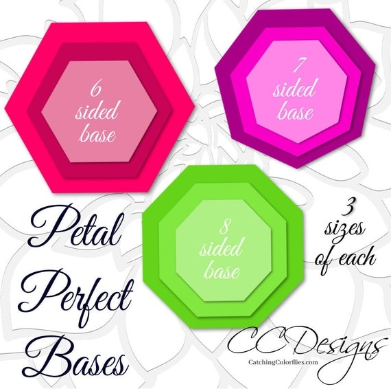petal perfect bases for giant paper flower templates  large flower template base by catching