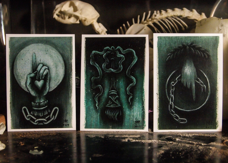 Gravestone Symbolism - Set of 3