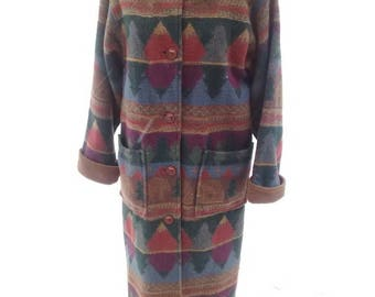 Painted Pony North Woods Style  Long  Blanket Coat