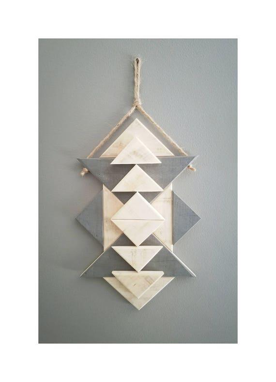 Geometric Wood Wall Art -...