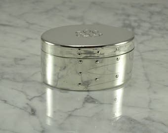 Tiffany Sterling Silver Keepsake Box (monogrammed)