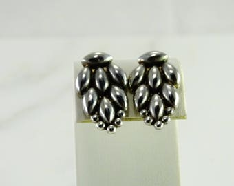 Old Mexico Signed Screw back Sterling Earrings