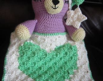 Handmade, Crocheted Sleepytime Bear