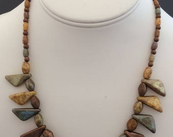 Czech Luster Bead Necklace