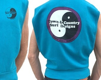 Vintage Town & Country Surf Designs Sleeveless Sweatshirt — Small