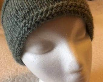 Head band, wool, hand knitted S109