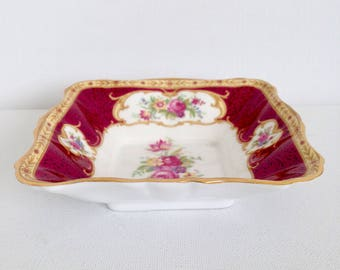 Royal Albert Lady Hamilton Bon Bon, Candy Dish Bone China