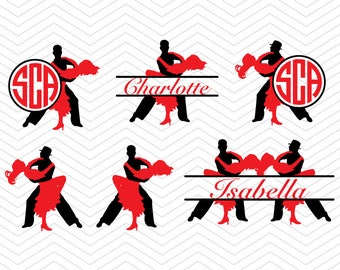 Salsa Bachata Dancer tango SVG DXF PNG eps Dancing Cut Files for Cricut Design, Silhouette studio, Sure Cut Lot, Makes Cut