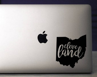 Cleveland / Cleveland Decal / Laptop Decal / Cleveland Sticker / Vinyl Decal / Ohio Decal / Ohio Sticker / Cleveland Cavaliers Decal / Ohio