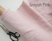 Pure 100% Linen Fabric By Meter / Half Meter - Pink Softened Linen Fabric - Stonewashed Linen Fabric - Natural Linen Fabric - 205 gsm