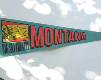 Montana Souvenir Pennant, Large Souvenir Felt Flag