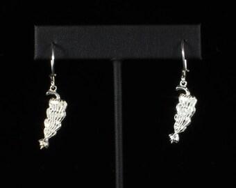 Banana Bunch Hanging Earrings in .925 Sterling Silver
