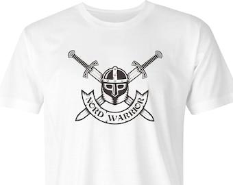Viking Warrior Helmet & Crossed Swords T-Shirt, Viking Helmet, Warrior Swords, Nordic Warrior print, Viking Warrior Print, Viking Print.