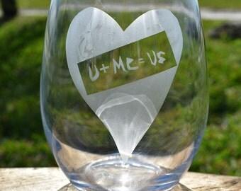 Valentine's Day Stemless Glass