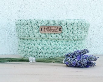 Mint green baby shower, nursery decor, crochet basket, storage basket, small basket, newborn gift, nursery decorations, baby shower gift