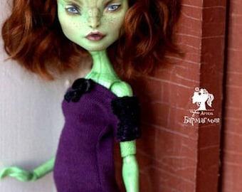 OOAK Monster High repaint Gorgona Create-a-Monster