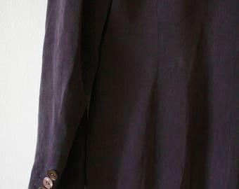 knee long silk blazer