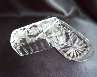 Covered Butter Dish - Cut Glass Butter Dish