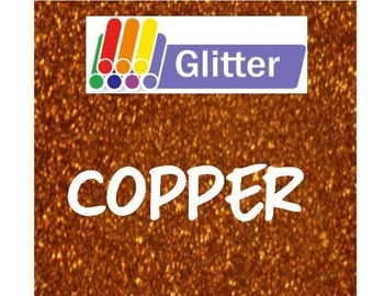 Siser Glitter Heat Transfer Vinyl - Iron On - HTV - Copper