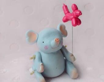Elephant Sculpture / Elephant baby / Elephant toy OOAK