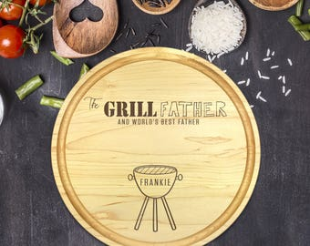 Engraved Cutting Board, Personalized Round Cutting Board, Gift for Him, Fathers Day Gift, Gift for Father, Christmas Gift, Dad, B-0114