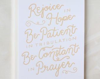 Rejoice in Hope / Romans 12:12 - 8 Cards