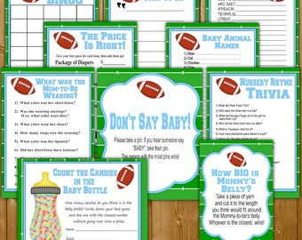 Football Baby Shower Games, You Pick Individual Shower Games, Budget Prices Baby  Shower Games