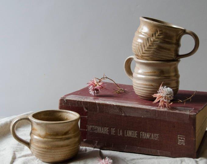 Vintage Handmade ceramic cups. Set of 3