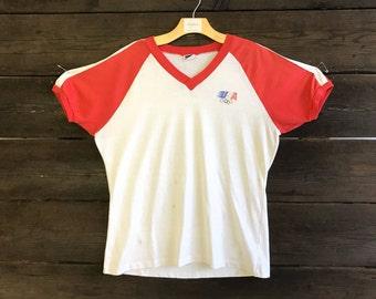 Vintage 80s USA Olympics Levis Tee