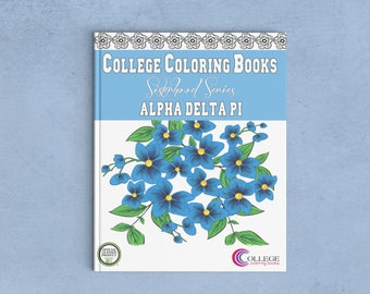 Alpha Delta Pi ADPi Coloring Book | Sorority Recruitment Bid Day Reveal | Big Little Gift | Study Break | Back to School | Greek Licensed