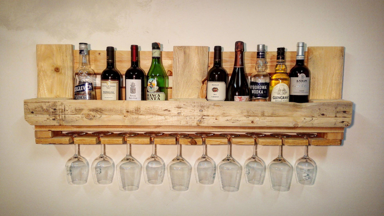 Portabottiglie pallet vino legno mensola cantinetta for Portabottiglie vino fai da te