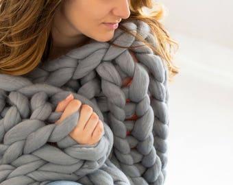 Le Decke merino wool blanket etsy