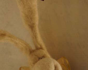 Bunny Rabbit, Needle Felted Bunny Rabbit, Art Doll, Easter Rabbit, Fiber art,