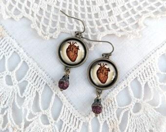 Human Heart Earrings