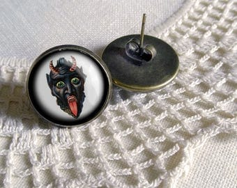 Krampus Stud Earrings