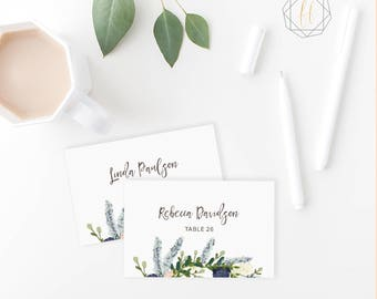 Wedding Place Card Template / Boho Wedding Place Card / Name Card / Escort Card / Instant Download / Table Number Card / DIY Printable #BGW