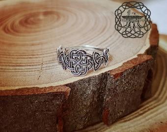 Celtic Knot Ring Sterling Silver Celtic Triskele Knot  Ring  Celtic Jewelry Celtic Shield