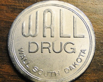 Mt Rushmore SD Wall Drug Token Advertising Token   1 Part 63