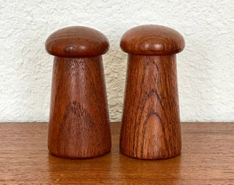 Danish Teak Salt And Pepper Shakers