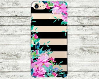 iPhone 7 Plus case floral iPhone 7 case clear Transparent iPhone 5, 5s, SE, 6, 6s, 6 Plus Case Silicone iPhone case.