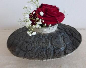 Raku ceramic vase