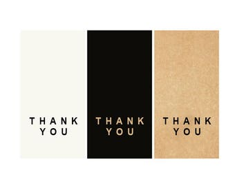 24 Rectangle thank you stickers, thank you labels, handmade sticker, gift, gift labels, kraft label, handmade, gift wrap, packaging label,
