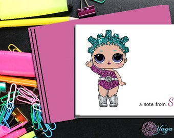 LOL Surprise Cosmic Queen Notes / Girl Stationery /LOL Girl Stationery Set / Set of 12