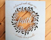 Faith Wood Canvas, Wall Art, Wood Home Decor, Wall Gallery, Life Saying, Inspirational Quote, Wall Decor, Sign, Gift Idea, Religious Quote