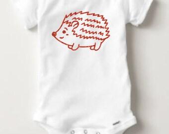 Hedgehog Bodysuit - Infant - Baby Girl Boy - Fall - Halloween - Costume - First Halloween - Shirt