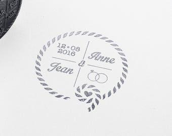 custom nautical wedding stamp