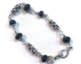 Blue night bracelet