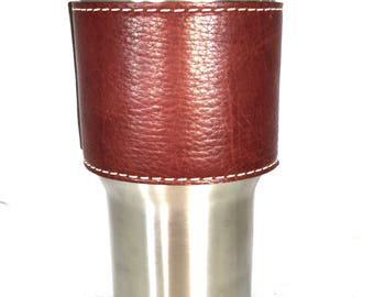 Yeti cup Leather Handle - American Bison